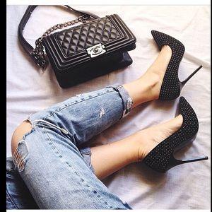 Zara Micro Studded heels